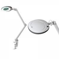 "Лампа-лупа ""LED"" (48 светодиодов 5 диоптрии) кронштейн серый ободок"