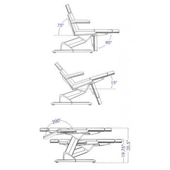"""Кушетка косметологическая, кресло """"МК33"""" с тремя моторами"""